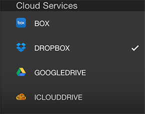 Dropbox OneDrive Box Google Drive iCloud Drive ShareFile Egnyte Hightail Syncplicity Copy Mediafire